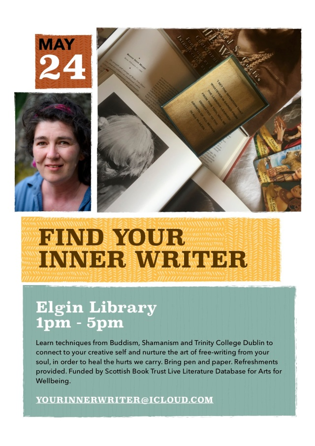 Elgin Library 1-5pm May 24th. Find Your Inner Writer.